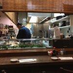 Sushi chef in kitchen