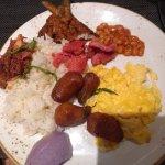 Breakfast buffet, Garlic rice, Longanissa (Filipino sausage)
