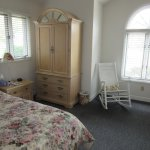 Delta Queen Suite Bedroom-Linen Storage & Rocking Chair