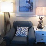 Comfortable Chair Area (2 in Room), King Size Room Boardwalk Inn, Kemah, Texas