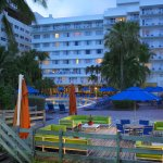 Pool and Exterior at sunset in Miami Beach