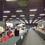 One of the massive conference event halls