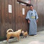 neil in kimono at osaka museum housing & living