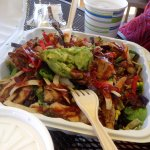 Delicious barbecue chicken salad