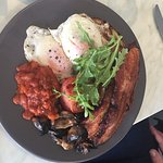 Smoke and cure their own bacon, beans, tomato, mushrooms amd eggs