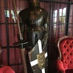 Suits of armour adorn the reception area