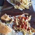 Brie and Caramalized Fig Burger. Mozzarelle Mushroom Burger