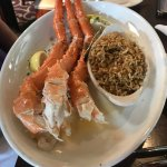 Alaskan king crab with dirty rice