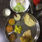 The Gujarati thali at Dinner time