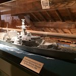 One of the models displayed: HMS Lancaster
