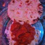 Chicken Curry, Riz Safran et Naan
