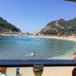 Beach from restaurant
