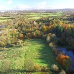 Another Phantom3 drone photo looking down on one of the dams and the beautiful Autumnal colours.