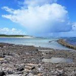 Magnifique plage protégé par la barrière de corail