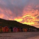 sunset in saltburn