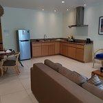 Kitchen/sitting areas in 1 bedroom suite