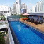 Swimmingpool am Dach