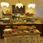 Only part of the amazing breakfast spread