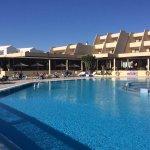 The upper 'quiet' pool area