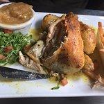 Roast Baby Chicken with Apple Sauce