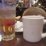 Applle Juice and Coffee, Booger Red's Saloon, Fort Worth, Texas