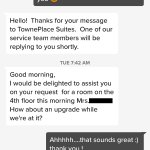 This is a perfect example of the sort of high-end customer service you can expect at TownePlace