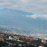 vista vale e do vulcão Teide