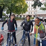 Getting ready to embark on our 4-hour bike tour of Munich!