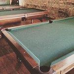 7 tables of free pool between two floors