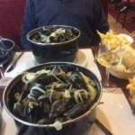 Moules & Frittes & wine wonderful