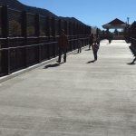 New pedestrian footbridge across the Colorado River.
