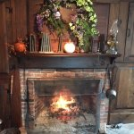 Cozy conversations by the fireplace!