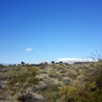 View of Spring Preserve looking towards Red Rock form the hiking trails