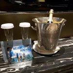 Compimentary champagne provided by Maggie Cheung and the Ritz-Carlton