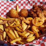 Fisherman's Basket with Shrimp and Crab cake