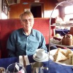 Cream teas in the buffet carriage