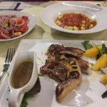 Duck, tomato salad and gnocchi