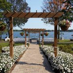 Beautiful Lake Geneva Wisconsin area Lakeside Wedding Venue #LakeLawnWedding