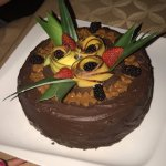 Special made for us Birthday Cake - Every plate were plated beautifully and excellent taste.