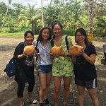 Several beaches around, LOTS of coconuts - Very friendly locals.