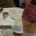 Crepe, ice cream and coffee!