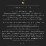 Draught Beer, Bottles Beer, & Wine