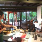 Our students enjoying the classes in our raw food villa