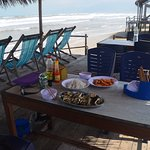Lunch at Lang Co beach overlooking South China Sea
