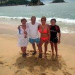 Disfrutando el mar con la familia