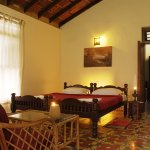 suite has a drawing room en suite,bath,dressing room and private balcony with Chembra peak view