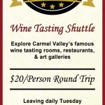 We have a shuttle service direct to our tasting room