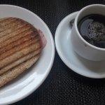 Café da manhã muito gostoso!