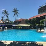 Pool, waterfall and swim-up Bar