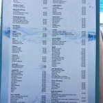 Pool side and pool bar menu